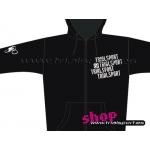 Trialsport - Jersey Capucha negro infantil